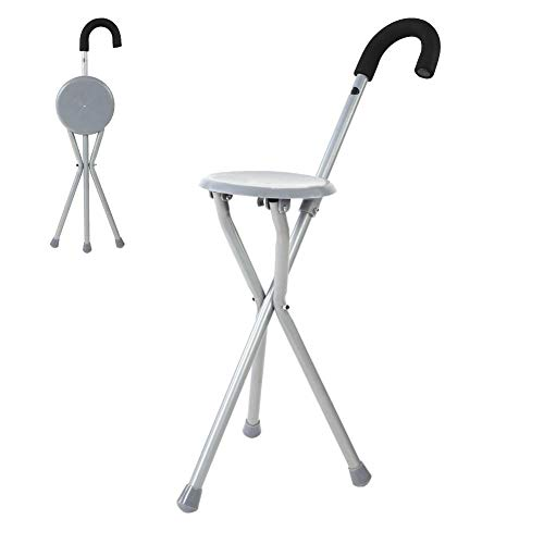 Zer One Metal draagbare wandelstokken Stock Stock Stoel vouwbare wandelstok Stick Chair Kruk Travel Cane Chair