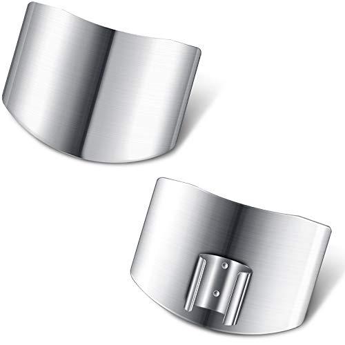 Edelstahl Fingerschutz Sicher Fingerschutz Messer Schneiden Schutz Messerschutz zum Küchen Schneiden Würfeln Hacken (2)