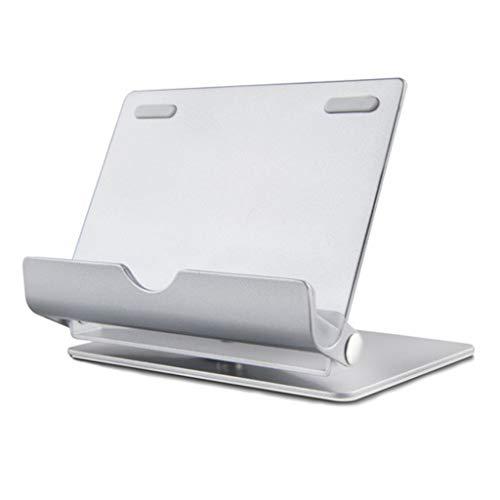 Tablet Smartphone Titulaire, Fulltime Rotation à 360 Degrés Universel Aluminium Métal Anti-slip Cellulaire porte-téléphone Stand