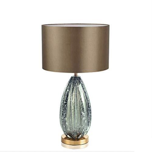 Lámpara de Mesa de Iluminación Decorativa Interior Lámpara de mesa - lámpara de mesa de cristal, Mesita de luz lámpara de escritorio con puerto, Moderno Mesilla de noche de la lámpara de dormitorio, s