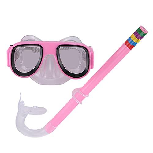 GoRIKI Juego de esnórquel para niños, gafas de buceo profesionales, impermeables, con suave boca, juego de esnórquel antifugas, juego de esnórquel para niños y niñas