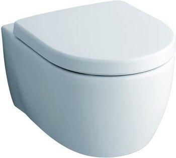 Keramag iCon Keratect WC spülrandlos rimfree + Haro WC Sitz Softclose + Anschluss Set Länge 300 mm + Schallschutz Set