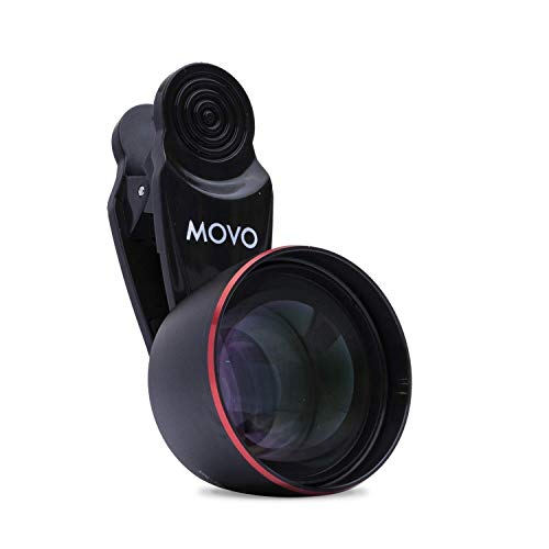 Movo SPL-Tele 3X Telephoto Lens with Clip Mount for Smartphones - Zoom Lens for iPhone, Android, and Tablets - Smartphone Telescopic Lens for Video and Photography - Best Telephoto Lens for iPhone