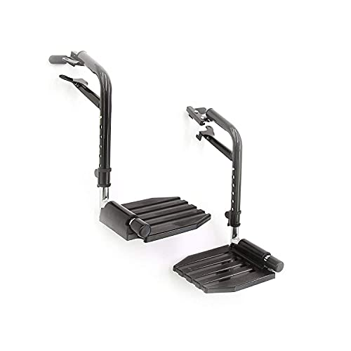 Invacare Economy Footrest for Standard Wheelchairs, 1 Pair, T93HEP
