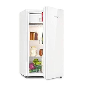 KLARSTEIN Luminance Frost - Réfrigérateur, 91L, 110 kWh/an, 7 niveaux de réglage de la température, Eclairage intérieur, Look moderne, Bac à oeufs, Clayettes verre - Blanc