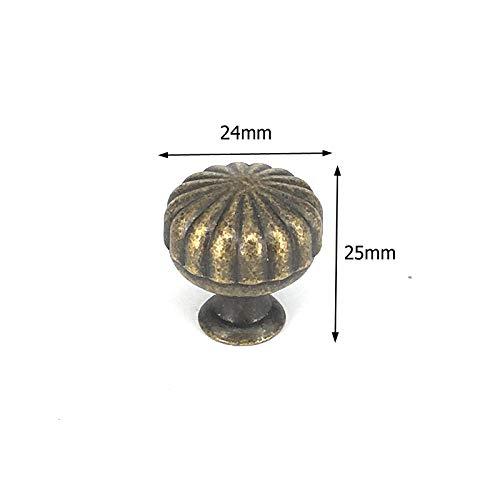 Deurknoppen 1 Vintage metalen kast knoppen meubelkast Pull antieke bronzen dressoir knoppen 010