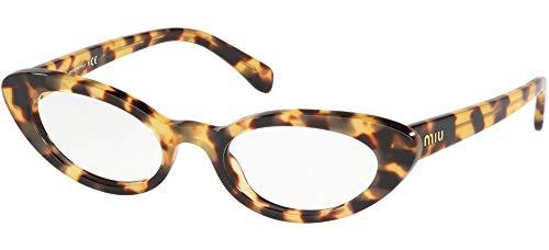Miu Miu 0MU 01SV Gafas, Habana Claro, 52 para Mujer