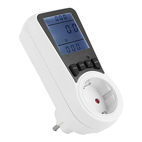 SALUTUYA Monitor de Electricidad, Monitor de Consumo eléctrico con Pantalla LCD Grande Protección contra sobrecargas, Instrumento de medición de medidor eléctrico doméstico