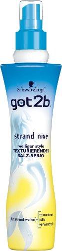 Schwarzkopf got2b Lotion strand nixe texturierendes Salz-Spray, 1er Pack (1 x 200 ml)