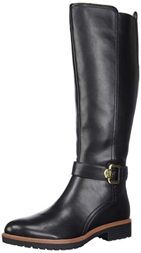 Tommy Hilfiger Women's Frankly Equestrian Boot, Black, 8 M US