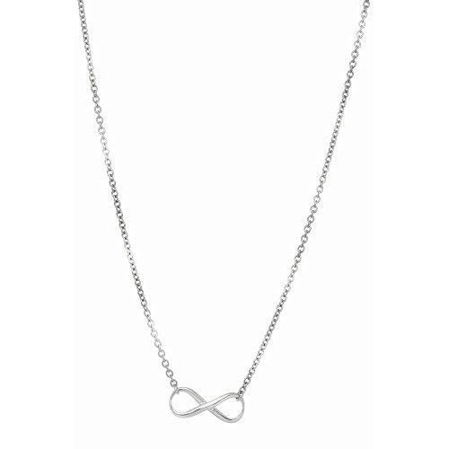 Rhodium Finish 2,5mm glänzend oval Kabel Kette Halskette Birnenform-Verschluss 1Figur Nr. 8–46Centime