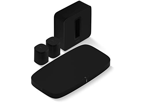 Sonos Surround Set with Arc Sound Bar, Subwoofer, and One SL Speakers