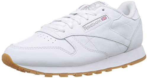 Reebok Damen Classic Leather Sneaker, Weiß (Int-White/Gum), 38.5 EU