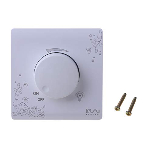 ATATMOUNT Wanddimmer Schalter Elfenbein Weiß Brief Art Weave Lichtschalter AC 110~250V