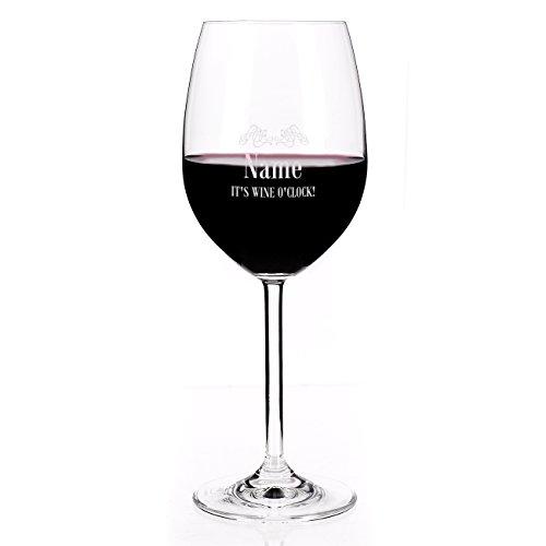 Leonardo 1 Weinglas mit Namensgravur It\'s wine o\'clock - Geschenkidee für Weintrinker