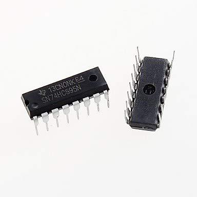 para Kits Arduino 74HC595 dip-16 74hc595n sn74hc595n 8 bits de Registro de Desplazamiento de Chips IC dip-16 (5pcs)
