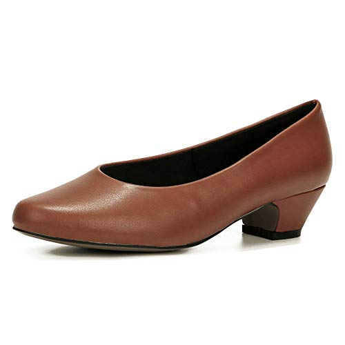 LIURUIJIA Women's Closed Toe Low Chunky Heel Pumps | Dress, Work, Party Shoes