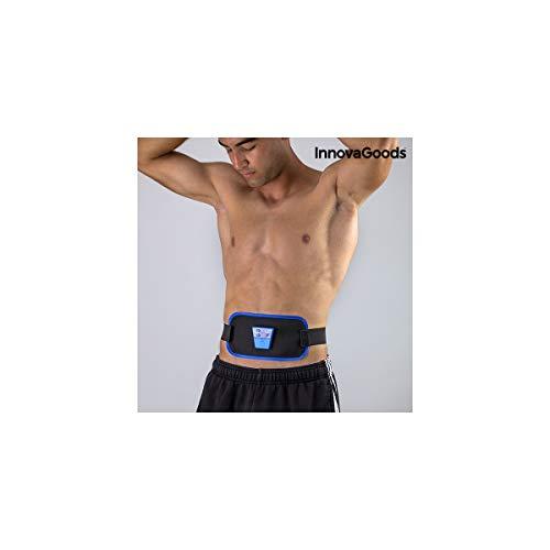 InnovaGoods IG811754 Cinturón Electro Estimulador Muscular, Unisex Adulto, Negro, Talla Única