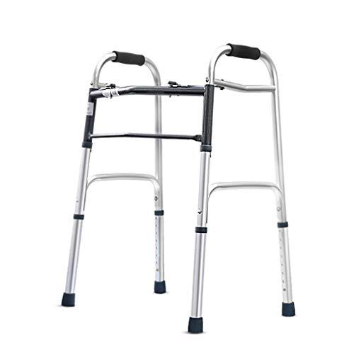 Andador Rollator Ancianos Walker-Subir Y Bajar Escaleras Walker De Aluminio Ligero De Movilidad Ajustable Ayuda For Caminar-retráctil De Cuatro Puntas De Caña