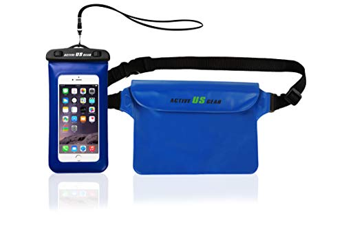 """Waterproof Pouch with Waist Strap, Screen Touchable Dry Bag and Floating Phone Case for iPhone 11 Pro Max/XS Max/XR/X Galaxy S10/S9 Note 10/9 Google Pixel Up To 6.5"""" for Boating Fishing Kayaking Beach"""