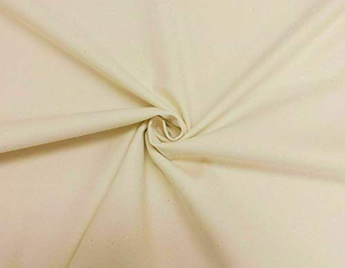 Glamptex - 100% Cotton Canvas Heavy Duty Fabric Waterproof for Tents, Tarpaulin, Craft, Boat Log - GTEX-100CAN (Natural)