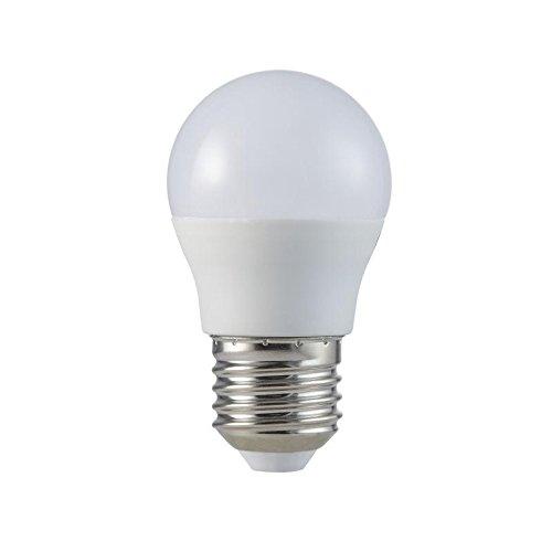 MÜLLER-LICHT 400247 A+, HD95-LED Lampe Miniglobe Ersetzt 37 W, Plastik, 5.5 W, E27, weiß, 8,1 x 4,5 x 4,5 cm