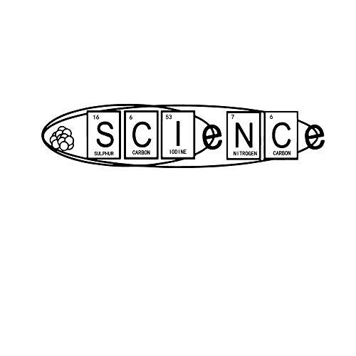 Etiqueta de experimento químico de dibujos animados cartel mural de vinilo extraíble para decoración de habitaciones de niños fondo de pared calcomanía de arte envío directo-Largo 74cm X 16cm