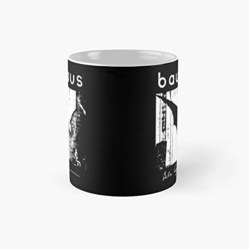Bauhaus – Taza clásica con diseño de alas de murciélago Bela Lugosi   Mejor regalo divertido tazas de café 12 oz