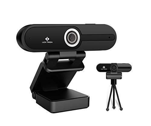 HD 4K Webcam with Microphone | 8MP USB Computer Camera with 4k & 1080p | Privacy Cover & Tripod | Pro Streaming Webcam | PC Mac Laptop Desktop | Great for Video Conferences & Recording | Ultra HD New