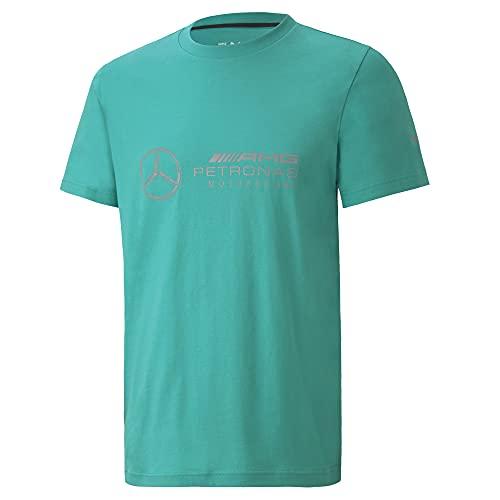 PUMA Herren-T-Shirt mit Mercedes-Amg-Petronas-Logo, Herren, Mercedes AMG Petronas Motorsport Logo T-Shirt, Spectra Green, Large