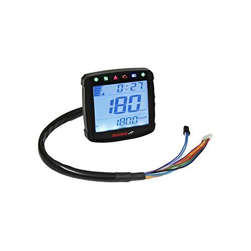 Tachymètre XR S 01 KOSO Digital, Universel, Speed/Eudes/Trip/Time/Fuel, éclairage Bleu, E de Marque de contrôle
