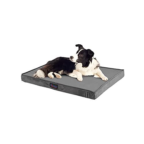 Bedsure Cama Perro Extra Grande Ortopédica - Colchón Perro Lavable Verano , Desenfundable con Espuma De Caja De Huevos