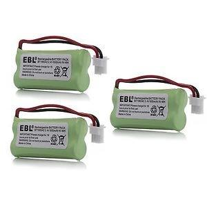 3 Packs Cordless Home Phone Battery Pack for AT&T VTech BT166342 BT266342 BT183342 BT283342 2.4V 800mAh Ni-MH