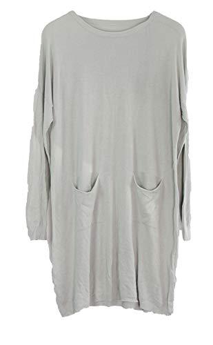 Superbugs Italy Damen Shirt Lang Longshirt Wolle (Blau)