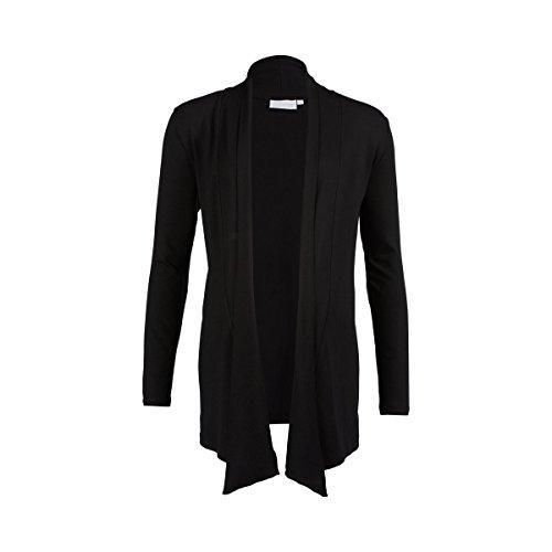 2HEARTS We Love Basics Umstands-Cardigan - offene Jersey-Jacke für die Schwangerschaft - Ärmel in 7/8-Länge & Schalkragen - schwarz