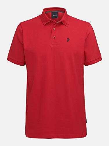 Peak Performance Classic Pique Polo Bike Red - XXL