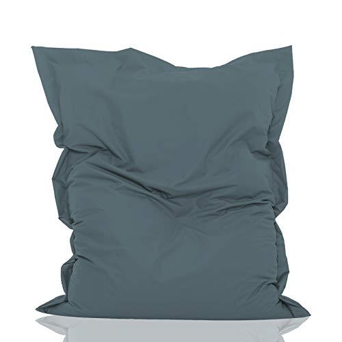 GlueckBean Pouf rectangulaire de qualité supérieure pour intérieur et extérieur avec rembourrage...