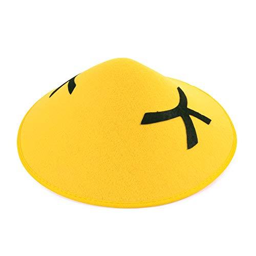Chinois Coolie Chapeau En Feutre chapeau Accessoire pour Oriental Extrême Orient Chapeau Déguisement
