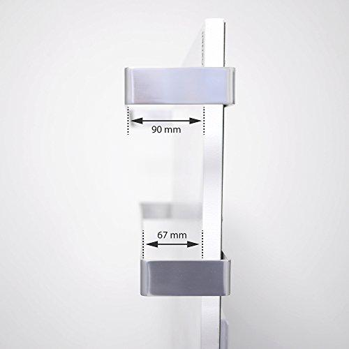 VASNER Aluminium Handtuchhalter  Handtuchwärmer Set  Infrarotheizungen Citara Glas Metall Bild 4*
