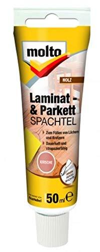 Molto LAMINAT+PARKETTSPACHTEL 50ml Fertigspachtel Spachtelmasse Holz Spachtel (Kirsche)