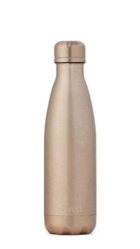 S'well Vacuum Insulated Stainless Steel Water Bottle, Double Wall, 17 oz, Pink Diamond