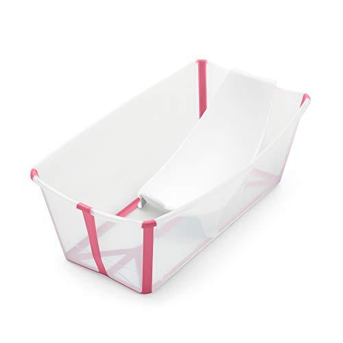 Stokke Flexi - Set da bagno per bambini pieghevole + supporto per neonati, durevole e facile da riporre, comodo da usare a casa o in viaggio, ideale per neonati e neonati fino a 48 mesi