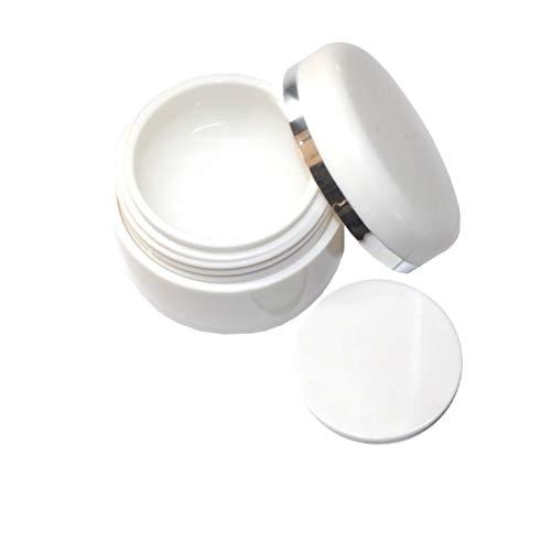 15 ml | Tiegel weiss | Leertiegel mit Abdeckscheibe | zum Befüllen mit Gel, Cremes etc.