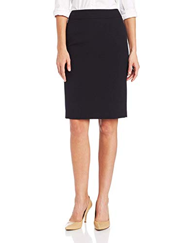 Calvin Klein Women's Straight Fit Suit Skirt (Regular and Plus Sizes), Navy, 10