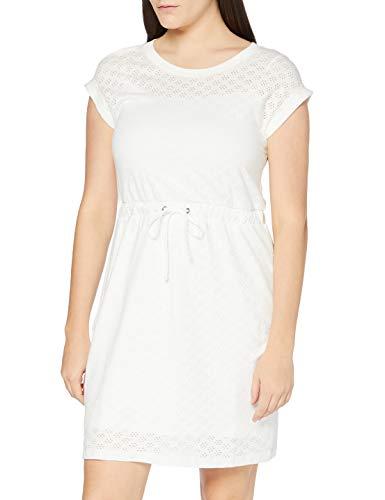edc by Esprit Damen 040CC1E339 Kleid, 100/WHITE, L