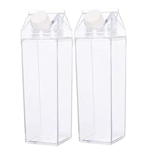 Froiny Bottiglia di Acqua di Latte Botla Acqua Trasparente Bottiglia Acqua Riutabile Cute Container per attività di Viaggio per Esterno per Interni