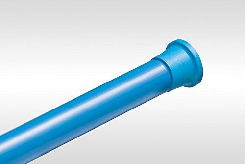 de grande qualité ALU barre pour rideau de douche 105-180 cm bleu barre télescopique!