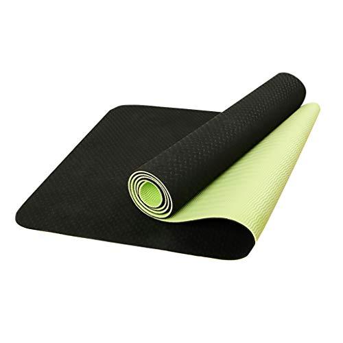 Esterilla de yoga de TPE espesante, antideslizante para ejercicios de fitness y yoga con bolsa de malla para yoga, pilates, gimnasia, entrenamiento, yoga, esterilla para hombres, mujeres y niños