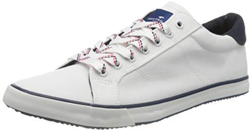 TOM TAILOR Herren 805100530 Sneaker, Weiß (White 00002), 40 EU