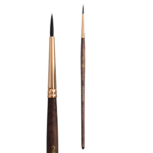 Princeton Artist Brush, Neptune Series 4750, Synthetic Squirrel Watercolor Paint Brush, Round, Size 2